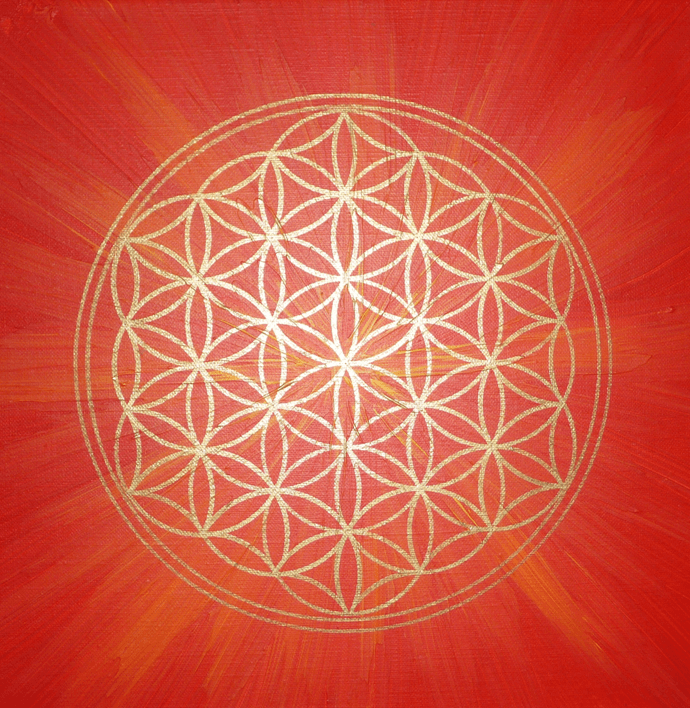 Flower Of Life - Vector - Sacred Geometry - Symbol Harmony