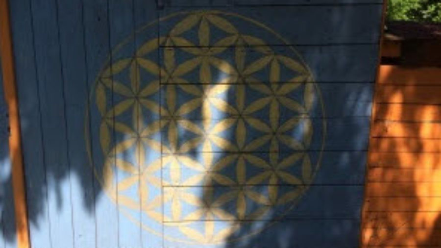 flower of life drawing door