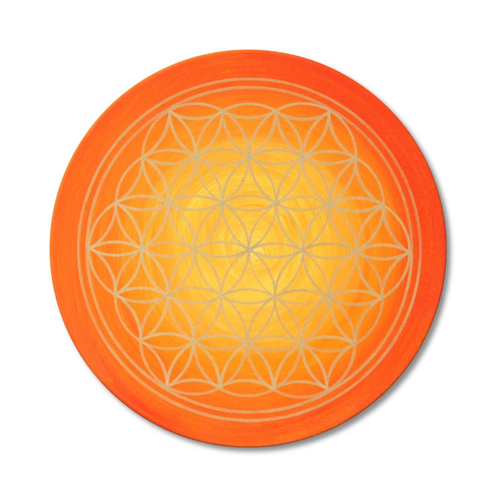 Flower of Life 'Sunrise' Energy Picture in gold - hand-painted from size 11,81